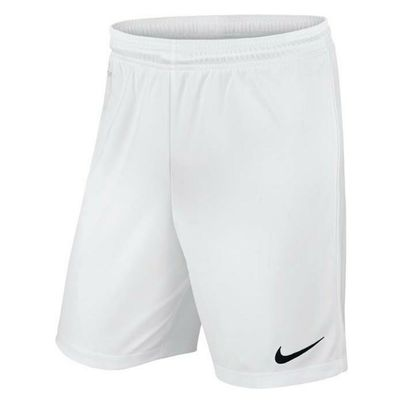 Nike Park II Knit Dri Fit Mens Adults Sports Football Gym Casual Shorts White