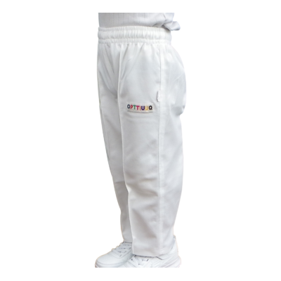 Opttiuuq Toddlers and Kids Cricket Trousers Whites polyester unisex