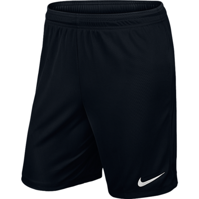 NIKE PARK II KNIT SHORTS BLACK/WHITE SIZES YTH XL TO ADULT XL BNWT