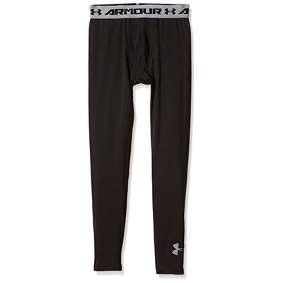 Under Armour Boy's Leggings – Black, Small/Youth