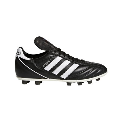 Adidas Kaiser 5 League Leather Football Boots Moulded Sole Black/White [033201]
