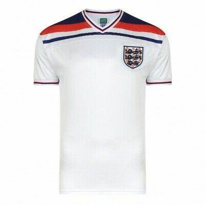 England 1982 World Cup Finals Retro Shirt 51% POLYESTER 49% COTTON Men's