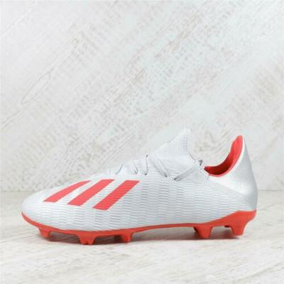 Mens Adidas X 19.3 FG Silver/H-Res Red/White Football Boots (TGF55) RRP £64.99