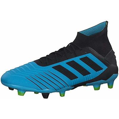 adidas Predator 19.1 Fg, Men's Footbal Shoes, Blue (Bright Cyan/Core Black/Solar Yellow Bright Cyan/Core Black/Solar Yellow), 8 UK (42 EU)