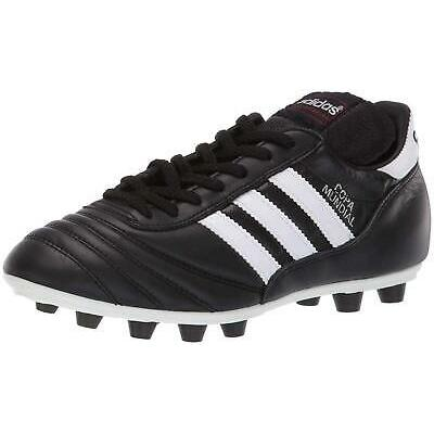 Adidas Mens Copa Mundial Leather Low Top Lace Up, Black/White/Black, Size 8.5