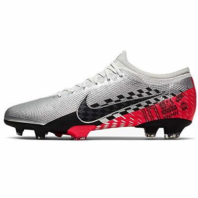 Nike Vapor 13 Pro Njr Fg, Unisex Adult's Footbal Shoes Footbal Shoes, Multicolour (Chrome/Black/Red Orbit/Platinum Tint/White 006), 4 UK (36.5 EU)