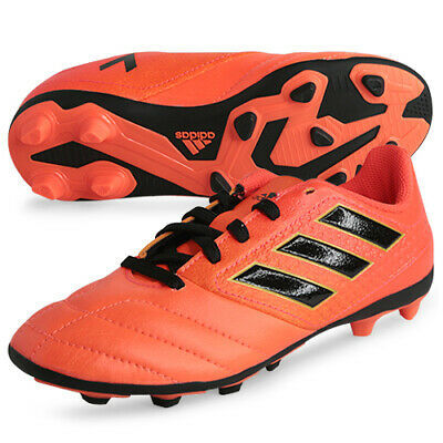 Kids Boys adidas 17.4 FXG Red Black Junior Moulded Studs Football Boots New