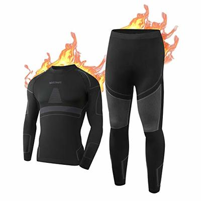 NOOYME Mens Thermal Underwear Mens Thermals Long Johns, Base Layers Men Quick Dry Long Johns For Men Thermal