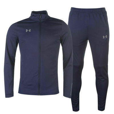 Under Armour Men's Challenger Knit Warm Up Track Suit 1299934 410 Navy