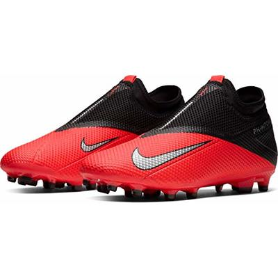 Nike Phantom VSN 2 Academy DF FG/MG, Men's Football Boots, Red Laser Crimson Metallic Silver 606, 8 UK (42.5 EU)