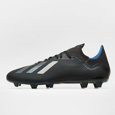 adidas Mens X 18.3 Firm Ground Football Boots Studs Trainers Sports Shoes Black