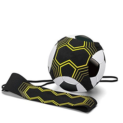 Porcyco Solo Football Kick Trainer, Soccer Training Aid for Kids and Adults, Soccer Ball Bungee Elastic Training, for Football Skills Improvement, Fit for Balls Size 3, 4, 5
