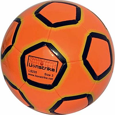 Lionstrike Size 3 Lite Football, orange – Lightweight Training Football for Boys and Girls age 3 to 7 years old