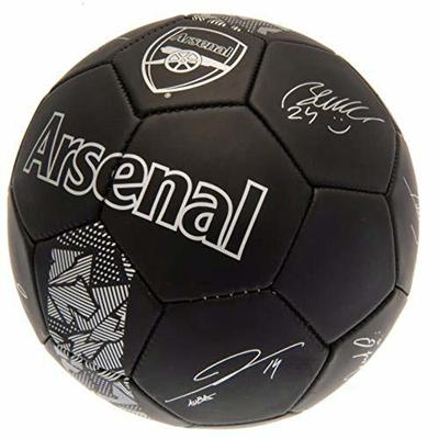 Club Licensed Arsenal Signature Ball – Black/Silver (Size 5), One Size