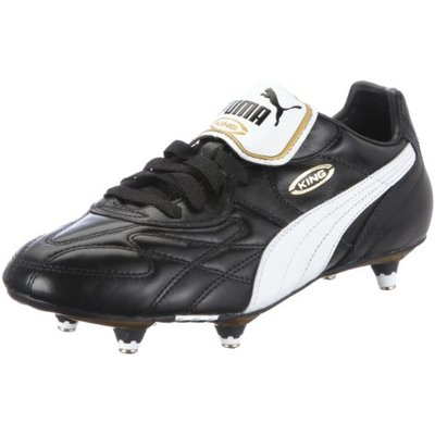 PUMA Men's King Pro Sg Football Competition Shoes, Black Black White Team Gold, 10 UK