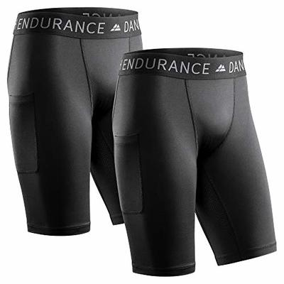 DANISH ENDURANCE Men's Compression Shorts (Black, L)