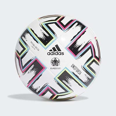adidas Unisex-Youth Uniforia League J350 Soccer Ball, White/Black/Siggnr/Br, 5