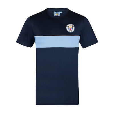 Manchester City FC Official Football Gift Mens Poly Training Kit T-Shirt
